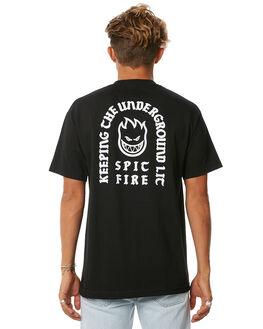BLACK MENS CLOTHING SPITFIRE TEES - 51010582BLK