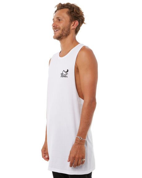 WHITE MENS CLOTHING FEAT SINGLETS - FTMTRM01WHT