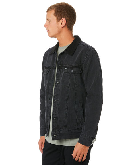 VINTAGE BLACK MENS CLOTHING RVCA JACKETS - R183445VNBLK