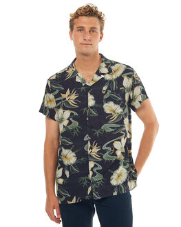 BLACK FLORAL MENS CLOTHING DEUS EX MACHINA SHIRTS - DMP75352BFLRL