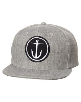HEATHER GREY MENS ACCESSORIES CAPTAIN FIN CO. HEADWEAR - CFA5511600HGY