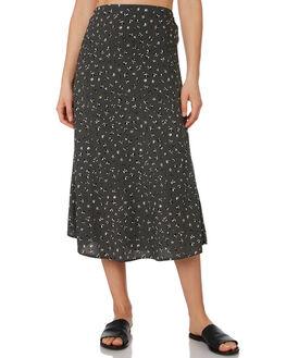 BLACK FLORAL WOMENS CLOTHING ELWOOD SKIRTS - W92610STW