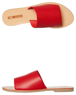 STRAWBERRY WOMENS FOOTWEAR SOL SANA FASHION SANDALS - SS182S401STRAW