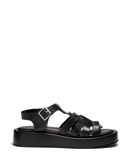 BLACK WOMENS FOOTWEAR JUST BECAUSE FASHION SANDALS - SOLE-JB1458BLK