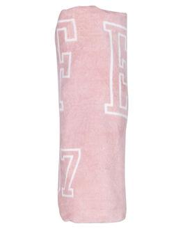 PINK WOMENS ACCESSORIES HUFFER TOWELS - AC84J5601PNK