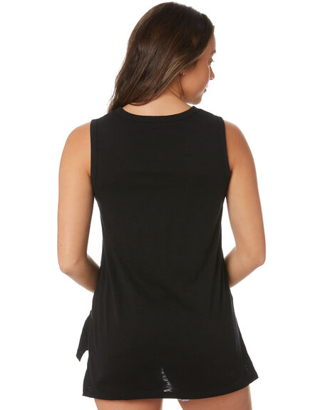 BLACK WOMENS CLOTHING BETTY BASICS SINGLETS - BB298BLK