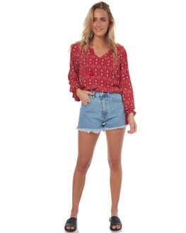 TILE RED WOMENS CLOTHING TIGERLILY FASHION TOPS - T372054TRED
