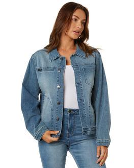 BLUE HAZE WOMENS CLOTHING RUSTY JACKETS - JKL0395BHZ