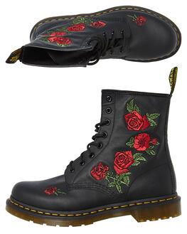 BLACK SOFTY WOMENS FOOTWEAR DR. MARTENS BOOTS - SS24722001BLKW