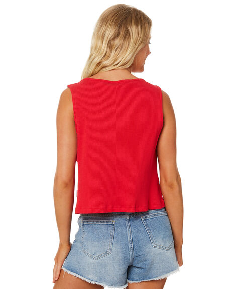 RED OUTLET WOMENS RPM SINGLETS - 8SWT09BRED