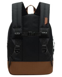 BLACK SADDLE BROWN KIDS BOYS HERSCHEL SUPPLY CO BAGS + BACKPACKS - 10312-02462-OSBSB