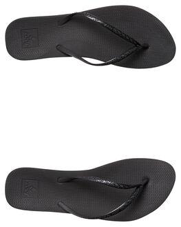 BLACK WOMENS FOOTWEAR REEF THONGS - A2YFKBLK