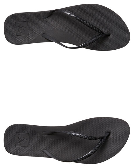 BLACK WOMENS FOOTWEAR REEF THONGS - A2YFKBLK