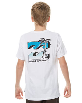 WHITE KIDS BOYS BILLABONG TEES - 8571019WHT