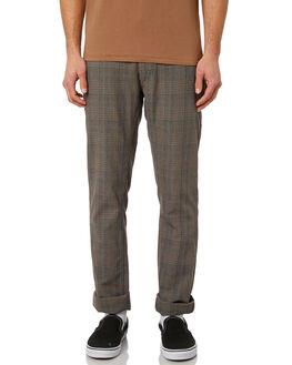 GREY PLAID MENS CLOTHING BRIXTON PANTS - 04044GYPLD
