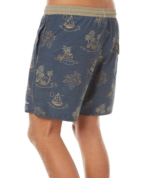 NAVY MENS CLOTHING RHYTHM BOARDSHORTS - OCT17M-JM08-NAV
