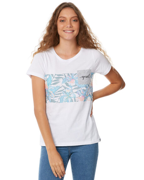 WHITE WOMENS CLOTHING RIP CURL TEES - GTEST11000