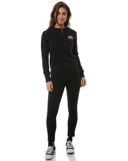 BLACK WOMENS CLOTHING SANTA CRUZ JUMPERS - SC-WFA8537BLK