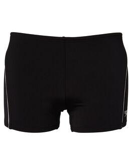 BLACK WHITE MENS CLOTHING SPEEDO SWIMWEAR - 12G32-0024BKWH