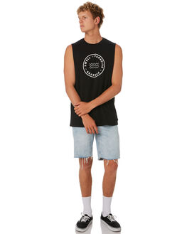 BLACK MENS CLOTHING SWELL SINGLETS - S5202272BLACK