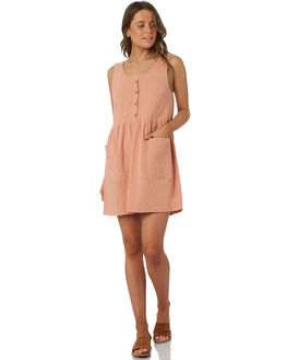 BLUSH WOMENS CLOTHING RHYTHM DRESSES - OCT18W-DR03BLS