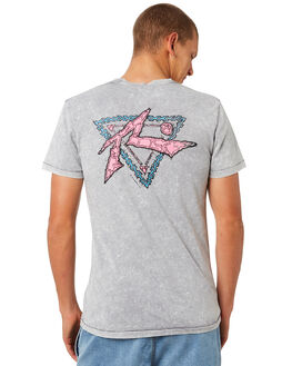 STONE GREY MENS CLOTHING RUSTY TEES - TTM2062SOG