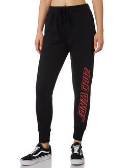 BLACK WOMENS CLOTHING SANTA CRUZ PANTS - SC-WPA9808BLK