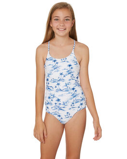 WHITE BLUE KIDS GIRLS SEAFOLLY SWIMWEAR - 15625WHIT