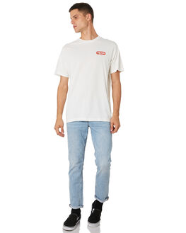 DIRTY WHITE MENS CLOTHING THRILLS TEES - TH9-126ADTWHT