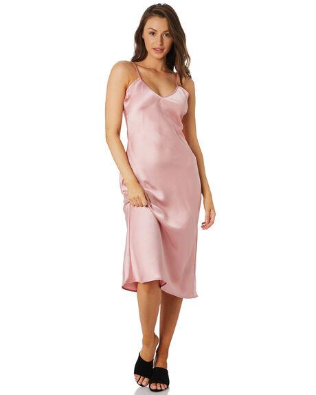 BLUSH WOMENS CLOTHING LULU AND ROSE DRESSES - LU23736BLUSH