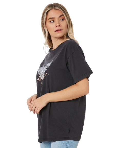 WASHED BLACK WOMENS CLOTHING SILENT THEORY TEES - 6054000WBLK