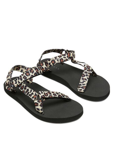 LEOPARD WOMENS FOOTWEAR RUSTY FASHION SANDALS - FOL0376-LEO