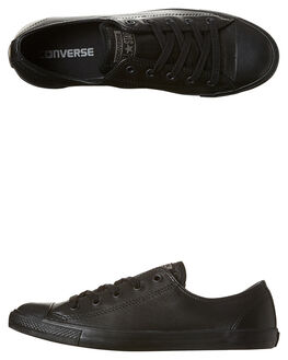 BLACK MONO WOMENS FOOTWEAR CONVERSE SNEAKERS - 535413BKMO