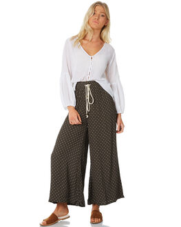 OLIVE WOMENS CLOTHING SAINT HELENA PANTS - SH18AW523-A-OLI