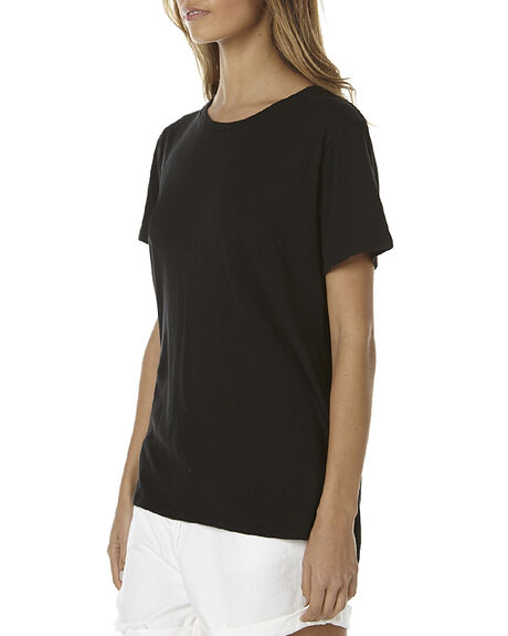 WORN BLACK WOMENS CLOTHING ASSEMBLY TEES - AS-SW1601-WORNBLKBLK