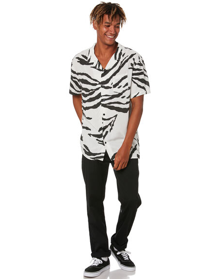 BLACK MENS CLOTHING STAY SHIRTS - SSH-20101BLK
