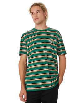 GREEN STRIPE MENS CLOTHING WRANGLER TEES - 901565LW0