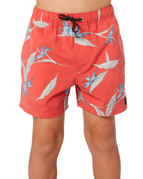 RED KIDS BOYS RIP CURL BOARDSHORTS - KBOSI10040