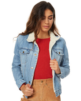 RECKLESS BLUE WOMENS CLOTHING THRILLS JACKETS - WTDP-204ERKBLU