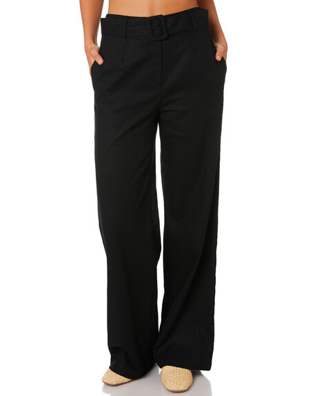 BLACK WOMENS CLOTHING MINKPINK PANTS - MP1806530BLACK