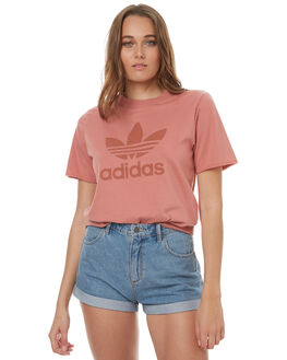 RAW PINK WOMENS CLOTHING ADIDAS ORIGINALS TEES - BR9284RPNK