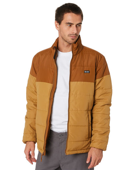 WASHED COPPER MENS CLOTHING BRIXTON JACKETS - 03250CPWAC