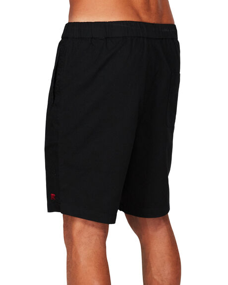 WASHED BLACK MENS CLOTHING ELEMENT SHORTS - EL-173365-IFL