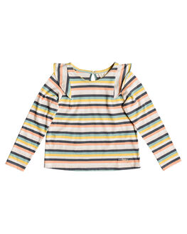 SALMON CANDY STRIPES KIDS GIRLS ROXY TOPS - ERLKT03068-MFG3