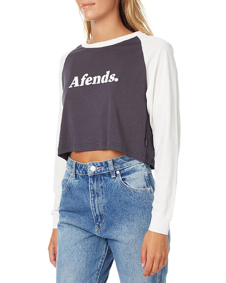 CHARCOAL NATURAL WOMENS CLOTHING AFENDS TEES - 50-10-005CHR