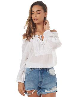 WHITE WOMENS CLOTHING BILLABONG FASHION TOPS - 6571093WHT