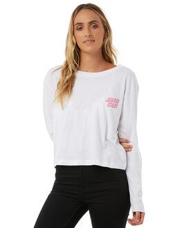 WHITE WOMENS CLOTHING SANTA CRUZ TEES - SC-WLA8516WHT