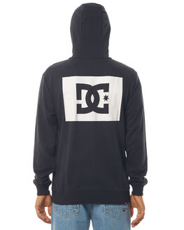 BLACK MENS CLOTHING DC SHOES JUMPERS - EDYSF03156KVJ0