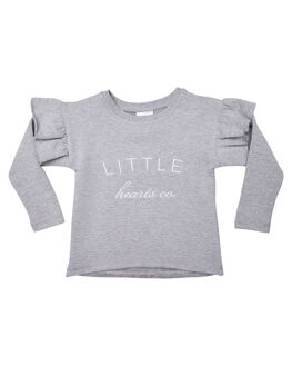 GREY KIDS GIRLS LITTLE HEARTS JUMPERS + JACKETS - FRLJMPGRY