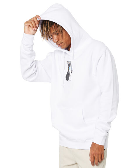 WHITE MENS CLOTHING HUF HOODIES + SWEATS - PF00410-WHITE